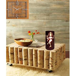 AH Brown Color Natraj God Design Iron Table Lamp