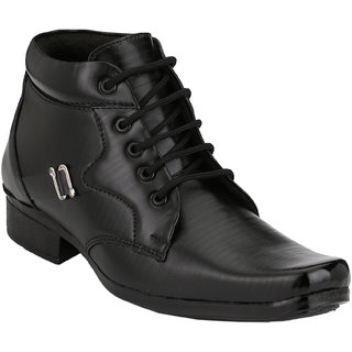Shoe Day Men Black Lace-Up Formal Shoes