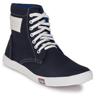 Shoe Day Men Blue Lace-Up Casual Shoes