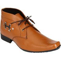 Shoe Day Men Tan Lace-Up Formal Shoes
