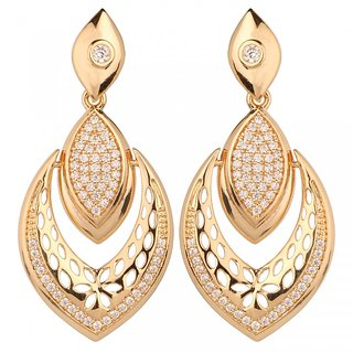Beautiart Almond Shape earing plated in gold
