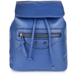Cappuccino Blue Chest Strap Backpack