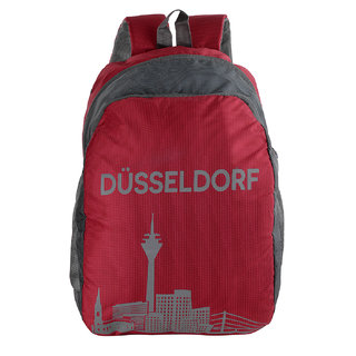The Blue Pink Red Polyester Zip Closure Backpack