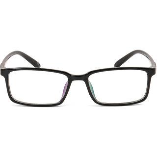 Royal Son  Black Full Rim Unisex Rectangular Spectacle Frame