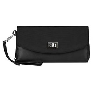 Travelon Safe Id Accent Turn Lock Clutch Wallet, Black, One Size
