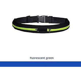 Close Out - Superior Running Belt with Reinforced zipper - Exercise Runners Belt with 2 Expandable Storage Pockets for P