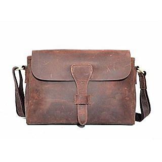 Kattee Womens Vintage Genuine Leather Messenger Shoulder Bag