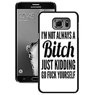 S6 Edge Plus Case Samsung Galaxy S6 Edge Plsu Black Cover TPU Rubber Gel - Iam Not Always A Bitch Just Kidding Go Fuck Y