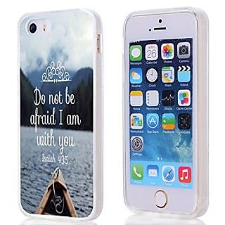 Case for Iphone 5S / SE, iphone SE / 5 Case Christian Quotes Bible Verses Isaiah 43:5 With TPU Sides 360 Degree Protecti