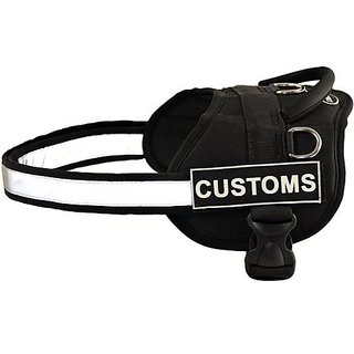 DT Works Harness, Customs, Black/White, Medium - Fits Girth Size: 28-Inch to 38-Inch