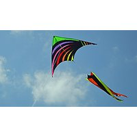 Rainbow Twister With Windstock Delta Kite For Kids Toys Outdoor Fun With String, Handle Easy Assemble