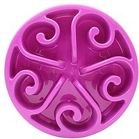 """ZesGood Slow Feed Pet Bowl Healthy Diet For Pets, 7.8"""" Diameter"""