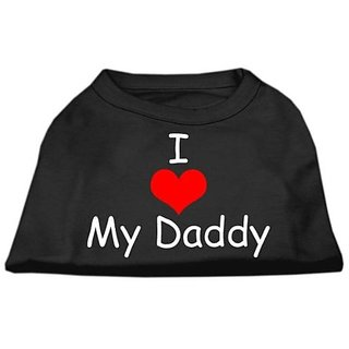 Mirage Pet Products 14-Inch I Love My Daddy Screen Print Shirts For Pets, Large, Black
