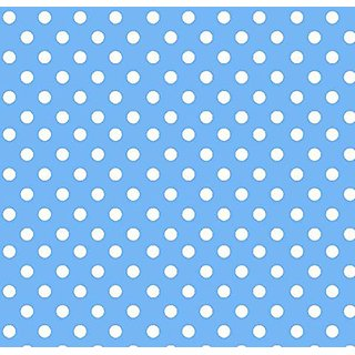 SheetWorld c-w545-SET c-w545-SET Crib / Toddler Sheet - Primary Polka Dots Blue Woven - Made In USA