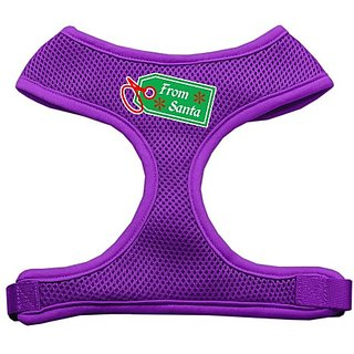 Mirage Pet Products From Santa Tag Screen Print Mesh Dog Harnesses, Medium, Purple