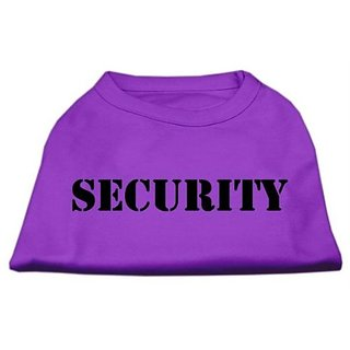 Mirage Pet Products 8-Inch Security Screen Print Shirts for Pets, X-Small, Purple with White Text