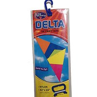 "Skyway Kite - Delta - Rainbow Colored, Easy To Fly 42"" Inch - Durable Nylon"