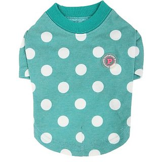 Pinkaholic New York Domino Round Neck Shirt for Dogs, Small, Green