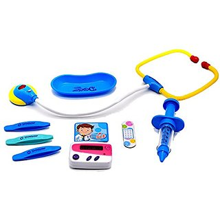 Little Treasures 10-Piece Pretend Play Doctor Set with Traveling Dr Storage Medical kit Case for Ages 3 and Up