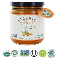 Greenbow Organic Honey With Turmeric 11oz (311g) Turmeric Honey 100% USDA Organic And Non-GMO