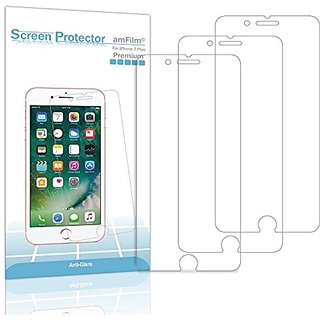 iPhone 7 Plus Screen Protector, amFilm Premium Anti-Glare/Anti-Fingerprint (Matte) Screen Protector for iPhone 7 Plus 5.