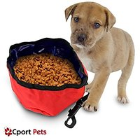 Pet Travel Bowl By Cport Pets ★ Portable Dog Bowl Collaspbile ★ Free Bonus Included