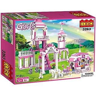 COGO Girls the Cinderella Castle Building Block Construction Set 512 Pieces - 3263