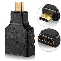 Micro HDMI To HDMI Adapter - High Speed HDMI Type D To Type A Male To Female M/F Port Socket Plug Jack Connector Convert