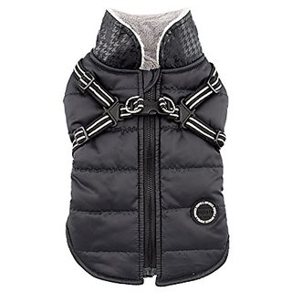 Puppia Authentic Winter Storm Winter Vest, X-Large, Black