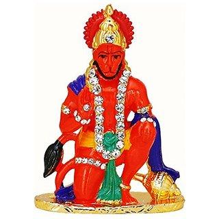 only4you Hindu God Religious Idol Hanuman Ji Temple for Car Dashboard - Sinduri Color