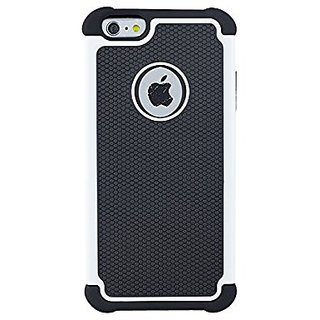 Iphone 6 6S PLUS Case,Hybrid Armor Rubber Combo Impact Silicone Case Cover for Iphone6 PLUS(White)