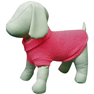 Amazing Pet Products Dog Sweater, 8-Inch, Pink