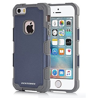 iPhone 5 Case,iPhone 5S Case,iphone SE case,BENTOBEN 2 Piece Hard PC Shell iPhone 5 Cases Rugged Soft TPU Bumper Hybrid