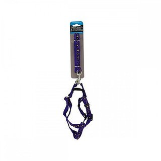 Kole KI-OF888 Cheetah Print Dog Leash & Adjustable Harness, One Size