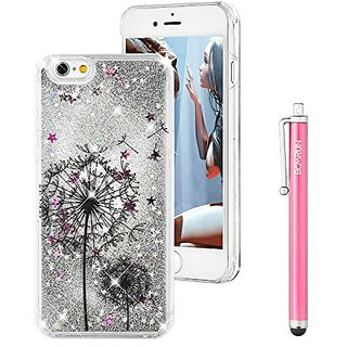iPhone 6S Plus Case, Liquid Case for iPhone 6S Plus,Flowing Liquid Floating Luxury Bling Glitter Sparkle Love Heart Hard