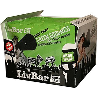 LivBar Green Goodness Organic Superfood Nutrition Bar