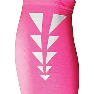Tandem Sport ESS Reflective Calf Compression Sleeve, Neon Pink, Medium