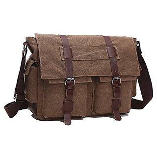 40028055be ZUOLUNDUO Vintage Canvas Laptop Messenger Bag School Bag Business Briefcase  8168DJ1