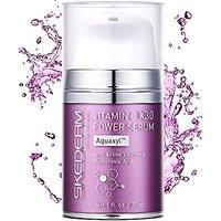 Skederm New Vitamin C X30 Power Serum. Hyaluronic Acid With Aquaxyl. 1 Fl. Oz.