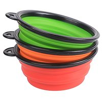 Color Our Life Portable Collapsible Pets Silicone Food & Water Travel Bowl,3 Pack, Dog Pop-up Food Water Feeder Foldable