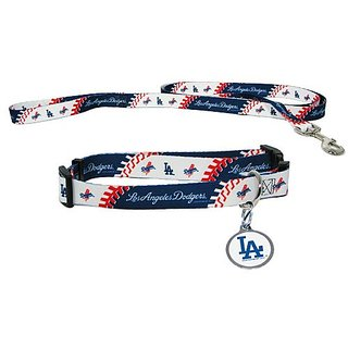 Hunter Los Angeles Dodgers Pet Collar, Lead and ID Tag Combo Set, Large
