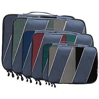 Packing Cubes - Set of 6 - Set Comes in 3 Various Sizes - By Trakk (Blue)