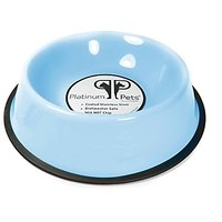 Platinum Pets 6.25-Cup Embossed Non-Tip Dog Bowl, Sky Blue