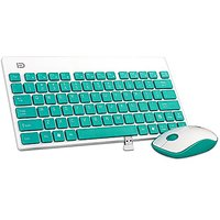 Keyboard And Mouse Combo, Foxcesd 2.4GHz Ultra Compact Wireless Whisper-Quiet Portable Keyboard / Mouse Combo No Laser L