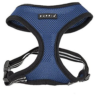 PUPPIA International Smart Soft Harness, Medium, Royal Blue