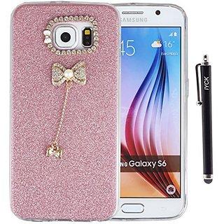 S6 Case, Galaxy S6 Case, iYCK 3D Handmade Luxury Diamond Rhinestone Hybrid Glitter Bling Shiny TPU Soft Rubber Case Cove