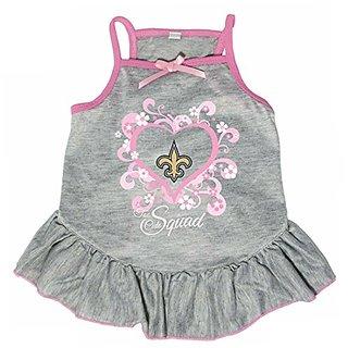 Hunter 4235-10-4500 NFL No Saints Too Cute Pet Dress, X-Small