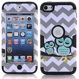SAVYOU IPod Touch 6 Case , IPod 6 Wave Owl 3 In 1 Shield Hybrid Series Hard Case Cover With Soft Silicone Inner Case For