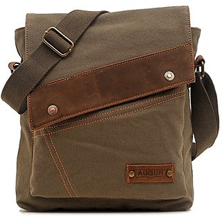 Zatous Vintage Canvas Shoulder Military Messenger Bag Military Leather Patchwork Messenger Bag 9088Lv