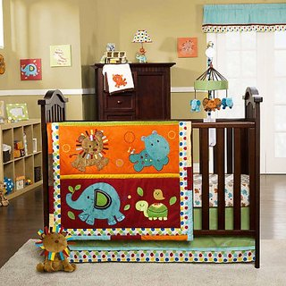 KidsLine Kids Line Animal Parade 9 Pc Crib Set